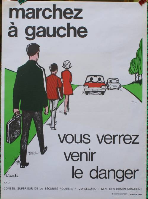 Affiche  APPER, prévention au danger de la route